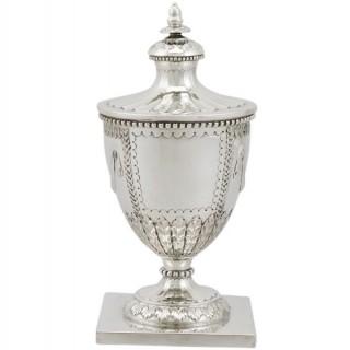 Sterling Silver Ink Pot by Mappin & Webb Ltd - Antique George V (1930)