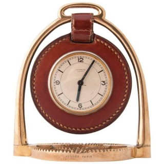 Hermès Stirrup Clock Designed by Paul Dupré-Lafon