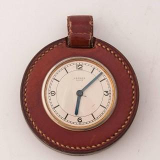 Hermès Stirrup Clock Designed by Paul Dupré-Lafon