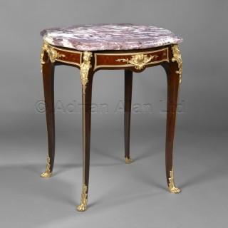 A Louis XV Style Gilt-Bronze Mounted Centre Table