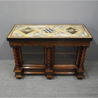 William IV Marble Top Rosewood Cabinet