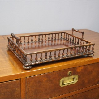 Regency Goncalo Alves Desk Tray