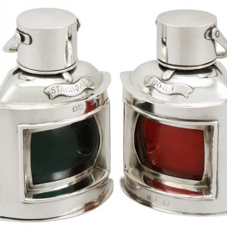 Sterling Silver Nautical Table Lighters - Antique Victorian (1897)