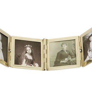 Yellow Gold Travelling Photograph Frame by Tiffany & Co - Antique