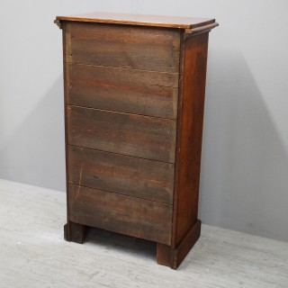 Burr Walnut Wellington Chest of Drawers