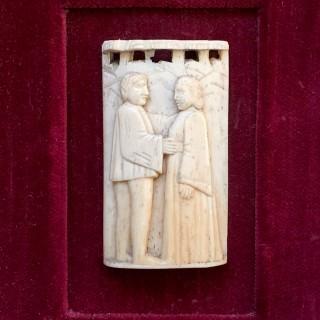 15th century Italian carved ox bone