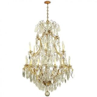 Monumental Louis XVI Style 24-Light Chandelier