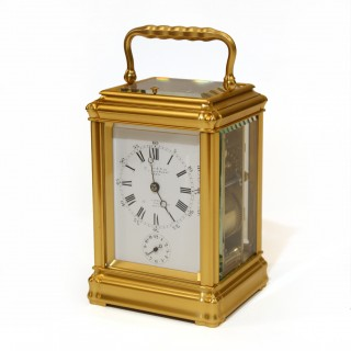 1880s Gilded striking Carriage Clock, Leroy & Fils