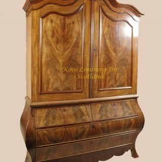 Mahogany Dutch Armoire Cabinet circa 1850