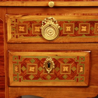 Louis XV Transition Period marquetry Cylinder Bureau