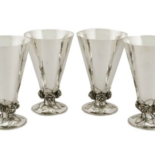 Set of Four Sterling Silver Goblets by Charles Boyton - Antique (1936)