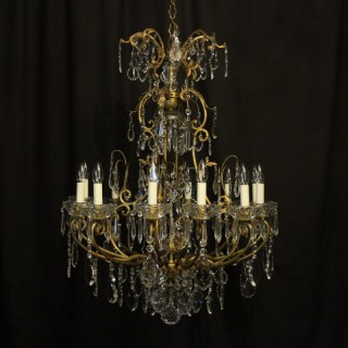 French Gilded Bronze Cage Antique Chandelier