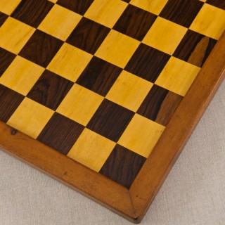Small Satinwood and Rosewood Chess Board
