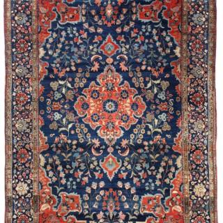 Antique Kurk Kashan rug