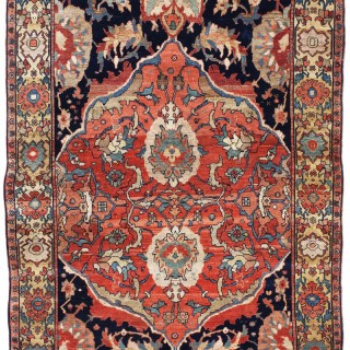 Rare early antique Fereghan rug