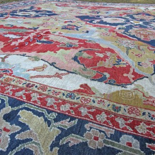 Antique Ziegler carpet, 17th Century Polonaise design