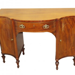 18th Century Mahogany Serpentine Dressing Table Side Cabinet