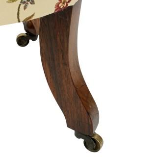 19th Century Rosewood Slipper Chair