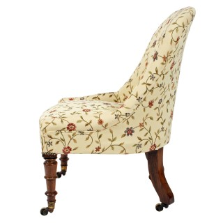 19th Century Rosewood Slipper Chair
