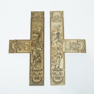 Pair of Door Plates Depicting Danaïdes