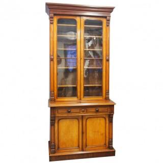 Mid Victorian 2 Door Cabinet Bookcase