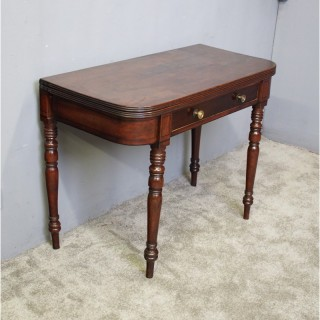George IV Scottish Mahogany Foldover Tea Table