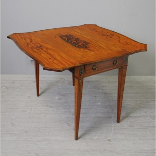 George III Painted Satinwood Pembroke Table