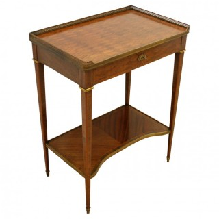 French Parquetry Inlaid Side Table