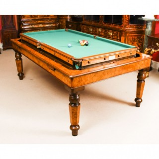 Antique Victorian Pollard Oak Rollover Snooker / Dining Table 19th C