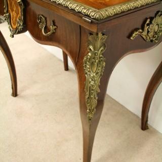 Victorian Tulip Purplewood and Burr Maple  Table