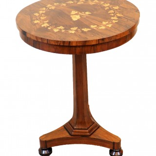 19th Century Rosewood Circular Lamp Table