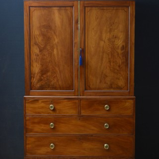 Regency Mahogany Linen Press – Wardrobe