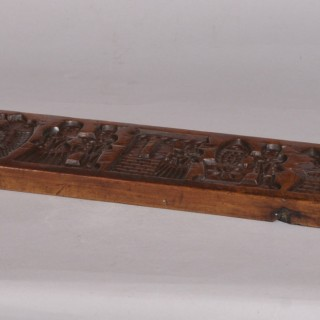Antique Treen 19th Century Fruitwood Gingerbread Mould