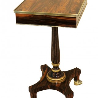 Calamander Wood Regency Period Oblong Antique Lamp Table