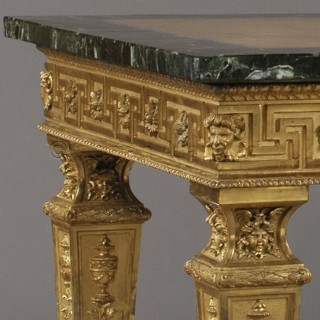 A Florentine Table with a Spectacular Marble, Fluorspar and Lapis Lazuli Top