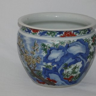Chinese Transitional Wucai jardinere