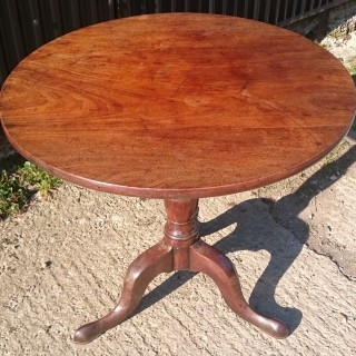 18th Century George III Period Mahogany Antique Tripod Table
