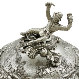 Sterling Silver Teapot by Edward Farrell - Antique George IV (1828)