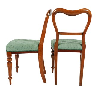 Set of Six Walnut Chairs