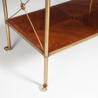 Fine Quality Kingwood and Brass Two Tier Etagere