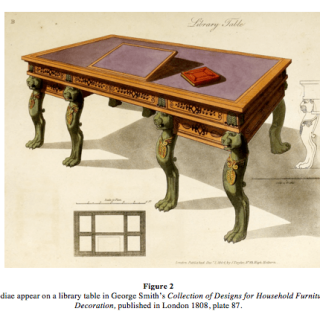 Important Regency Mahogany Partners Writing Table in the Manner of George Smith.