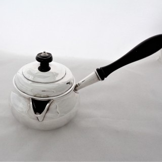 Very nice quality crested early Victorian Irish silver brandy pan Dublin 1838 James Moore