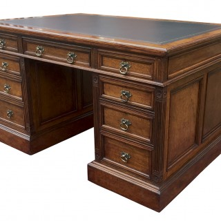 Antique Pollard Oak Partners Desk