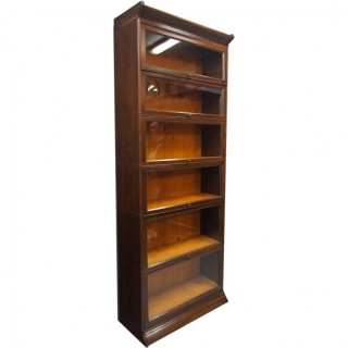 Tall Mahogany Six Door Bookcase