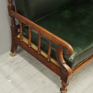 George IV Rosewood and Green Leather Sofa