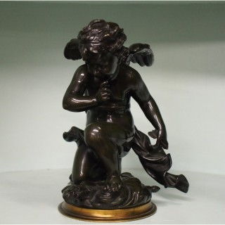 Bronze Figure of Cupid by Emile Joseph Carlier