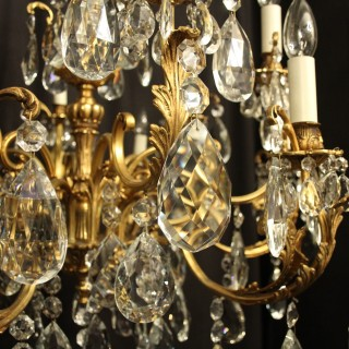 Italian Gilt Bronze 12 Light Antique Chandelier