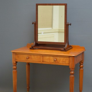 Victorian Satin Birch Writing Table or Dressing Table