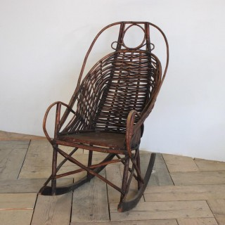 19th Cent American Adirondack Rocking Chair