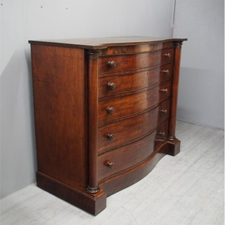 Scottish Victorian Serpentine Chest of Drawers